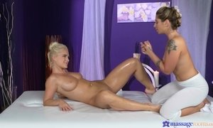 Horny lesbian Rossella Visconti shows Amy Red her pussy fingering skills