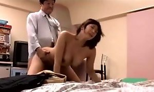 Cheating Japanese Housewife !