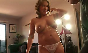 blonde, horny milf, mouth fuck, son and mommy