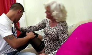Grandmother tramp deep-throat and nail youthfull rock-hard rod sex tube