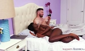 Black girl, white guy, HOT sex! Naughty America