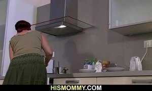 Lesbian fun with mom and at the kitchen