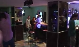 Tania greatly pounds 2 boys in a bar while everyone sees free sex