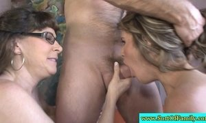 Stepdaughter learns how to suck dick