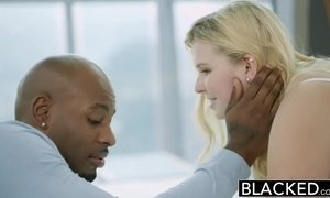 black, blonde, blowjob, cock, couple