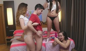 amateur, friend of son, gangbang, group, neighbor