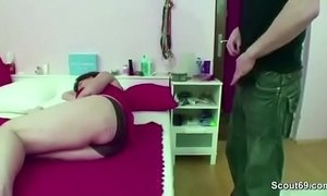 Mom Caught Step-Son Jerk and Helps with Fuck