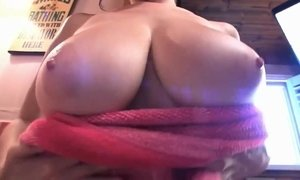 Bubble bath solo show with huge natural titted hottie Tessa Fowler